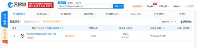 顺丰关联公司注册资本增至15亿元增幅约115%